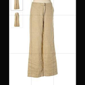 Linen khaki tan pants size 8